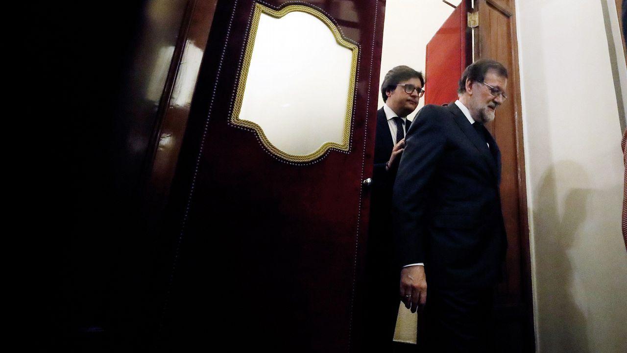Rajoy saluda a los diputados del PP en su despedida del Congreso el pasado día 31