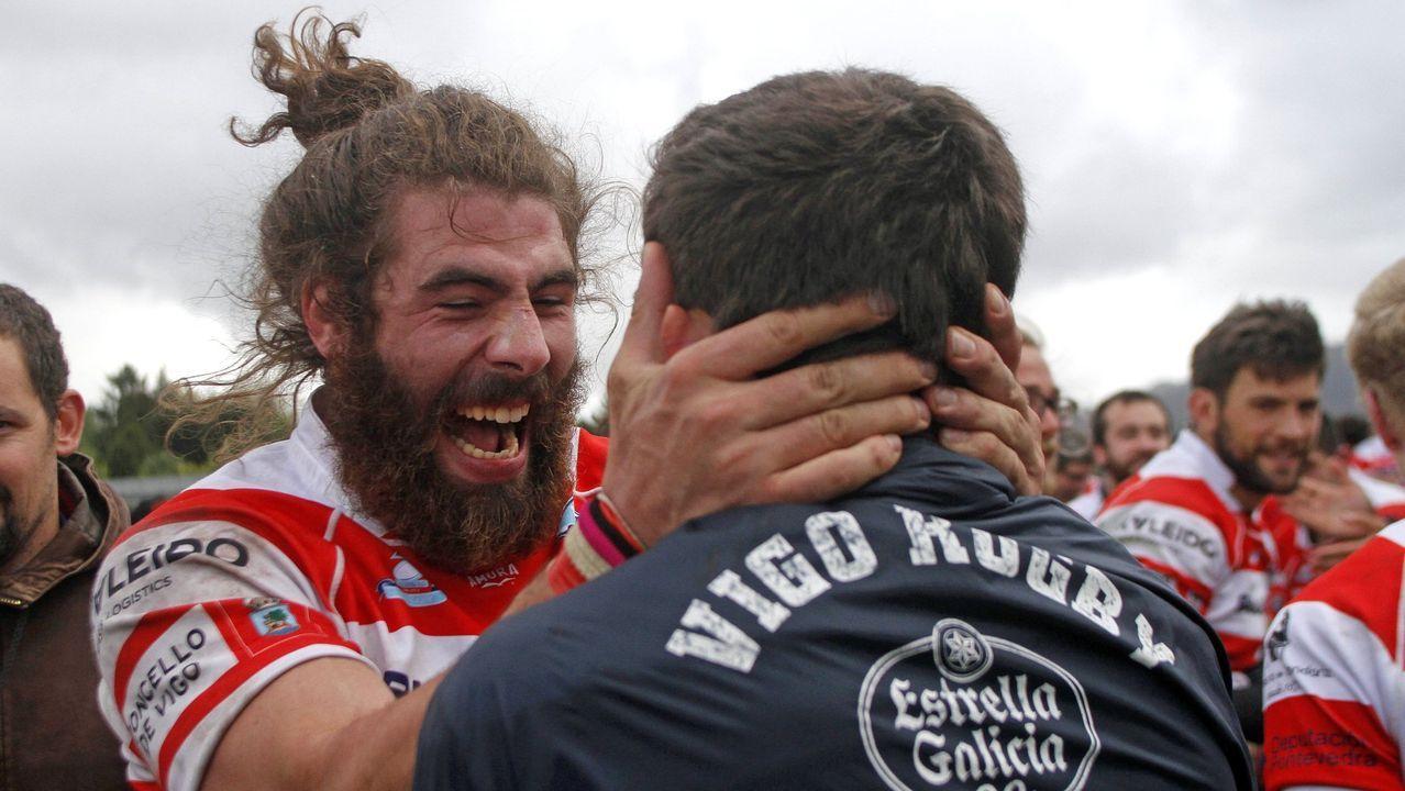 Juan Luis Peña, a la derecha de la imagen, había militado en el CRAT y disputaba un torneo de veteranos