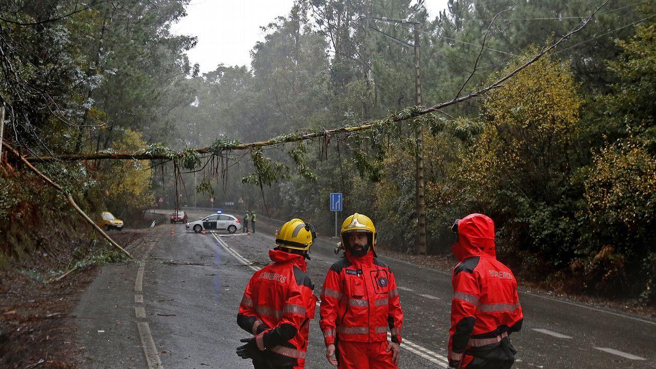 Bomberos al rescate en el Cunqueiro