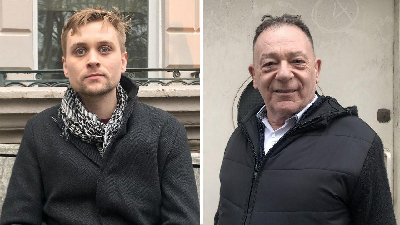 Tom Seear, trabajador por cuenta ajena en una empresa de Londres, y Rodney Oxbrow, jubilado residente en la capital británica
