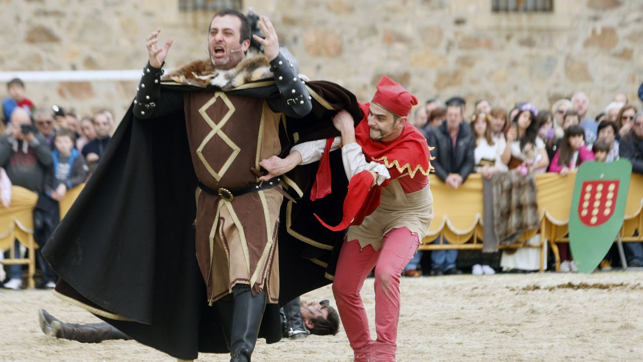 Un torneo de caballeros fue una de las principales atracciones de la Feira Medieval de Monforte