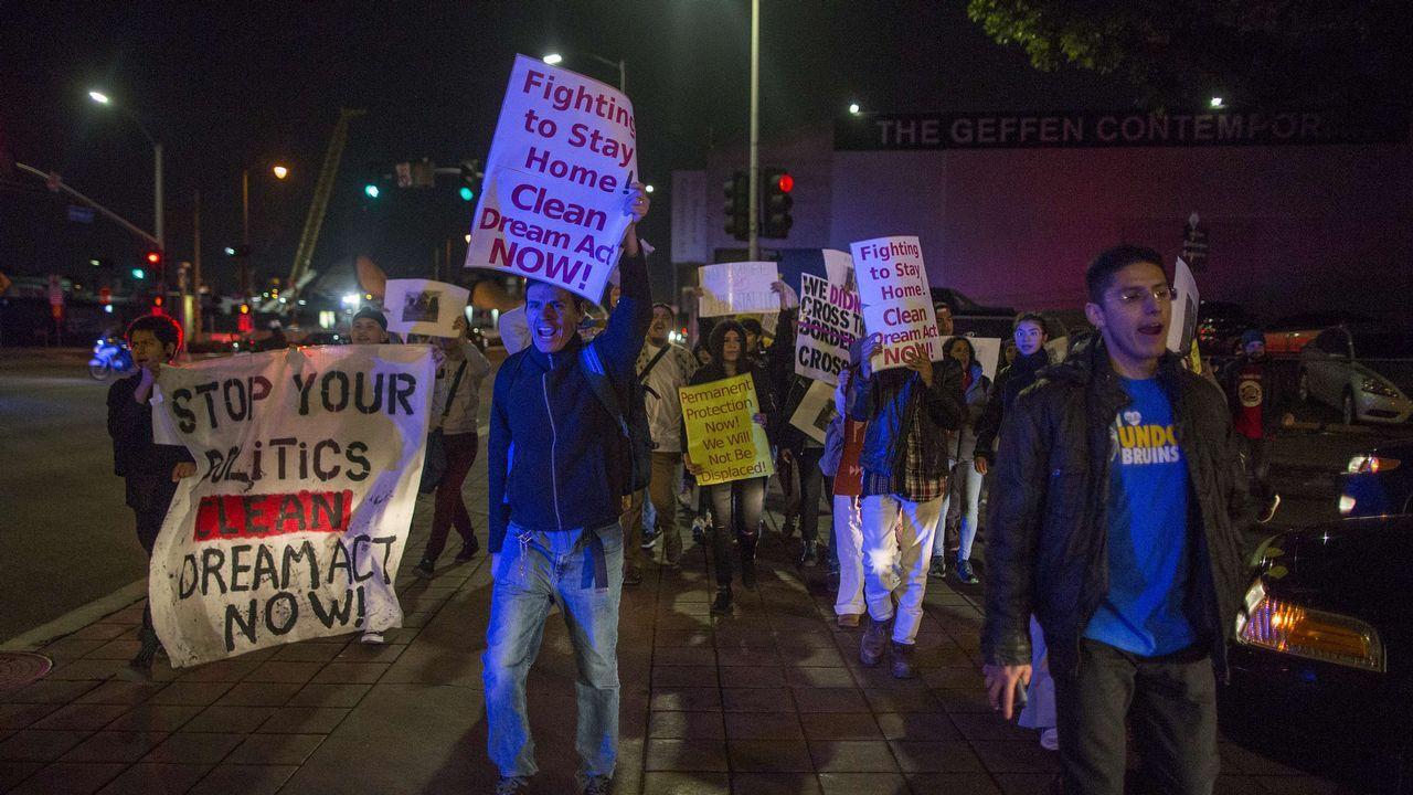 .Marcha de protesta de un grupo de Dreamers