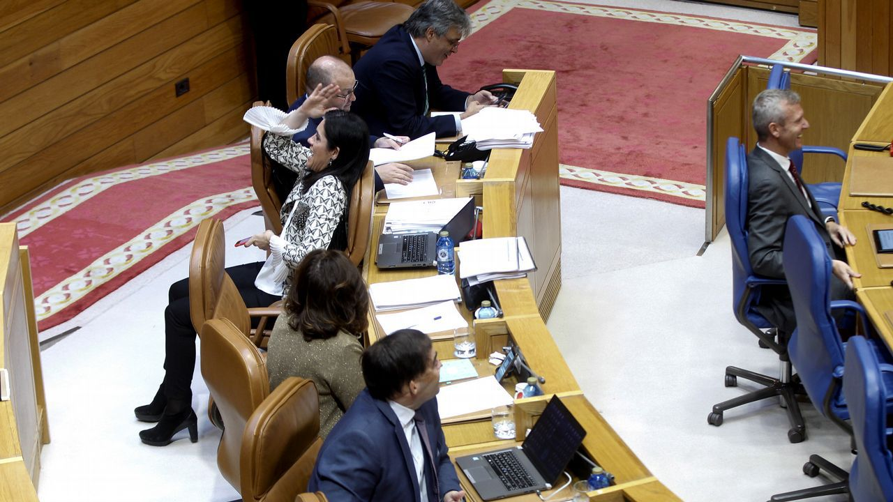 El presidente del gobierno Pedro Sánchez, durante una reunión en el Palacio de La Moncloa con el Presidente del principado Asturias, Javier Fernández