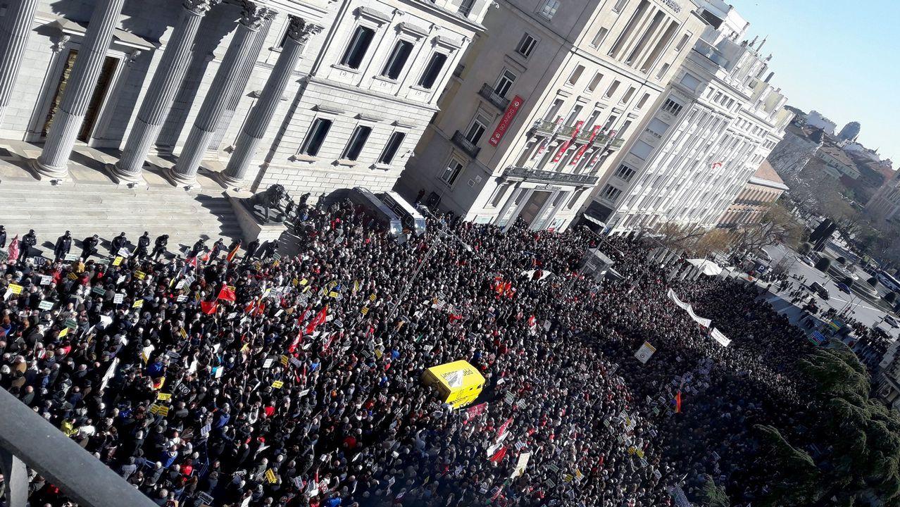 Las imágenes de las protestas de los jubilados ante el Congreso