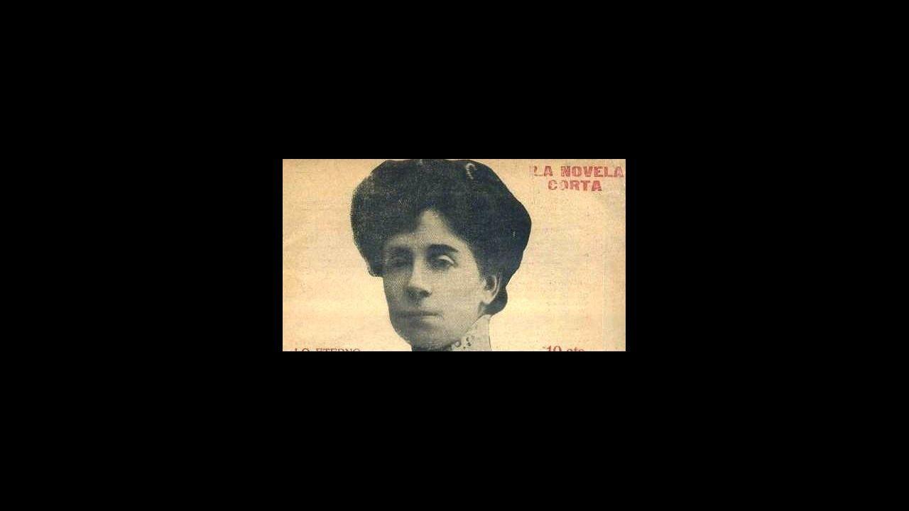 .retrato de Sofía Casanova que apareció en la portada de su novela Lo eterno publicada en 1917