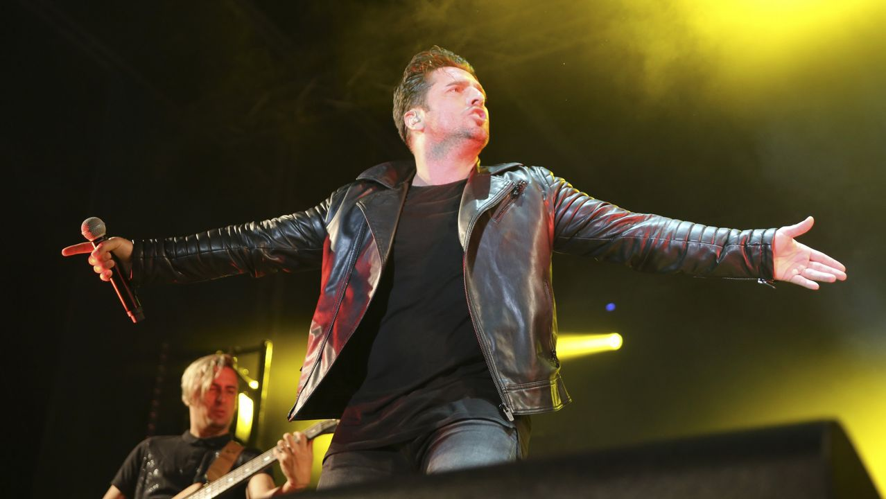 .En uno de sus últimos conciertos en Galicia en junio del 2017