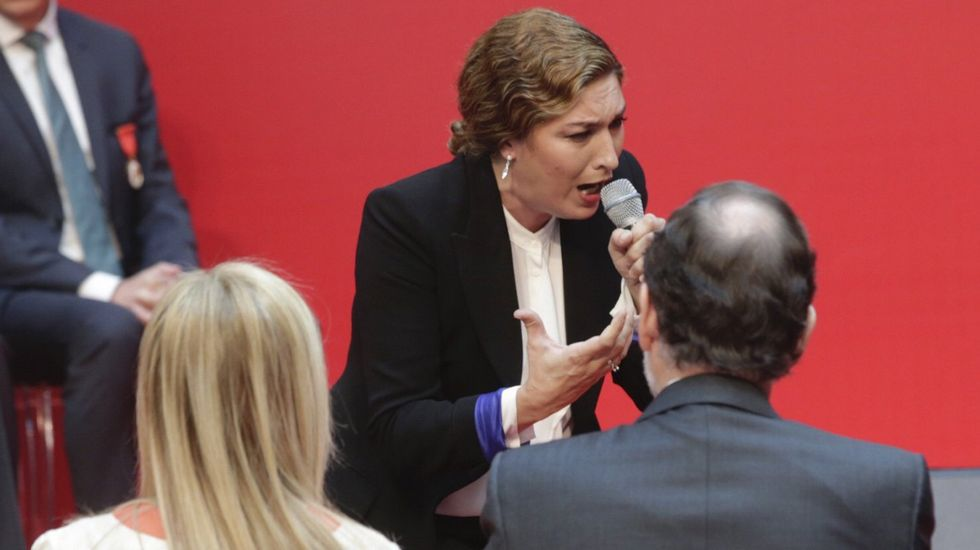 Estrella Morente en el Dos de Mayo: «Estamos hartos de que en España no haya diálogo».Pío García Escudero, Pedro Sanjurjo y Javier Fernández