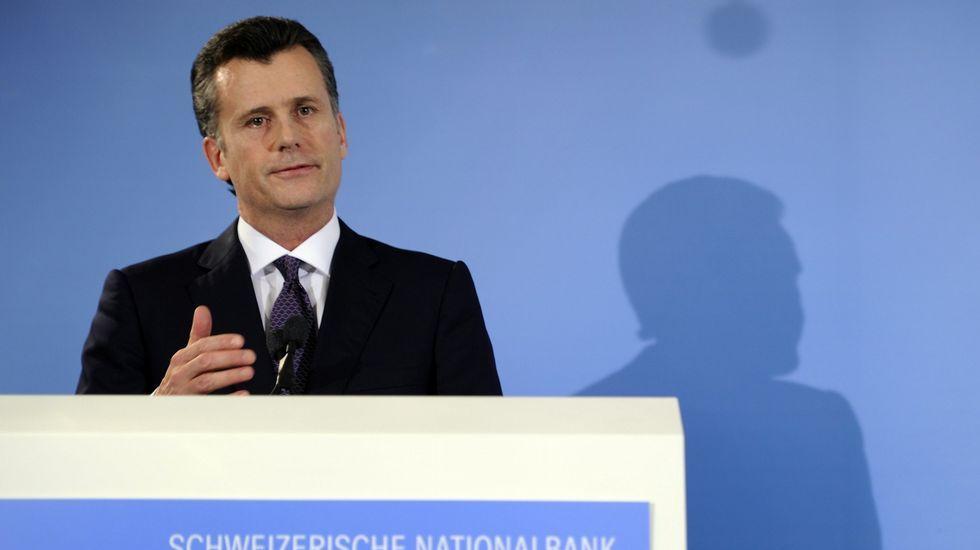 .El presidente del Banco Nacional Suizo, philipp Hildebrand.
