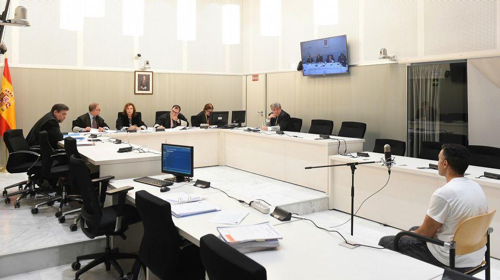 .Un momento del juicio contra el presunto yihadista detenido en Gijón en la Audiencia Nacional