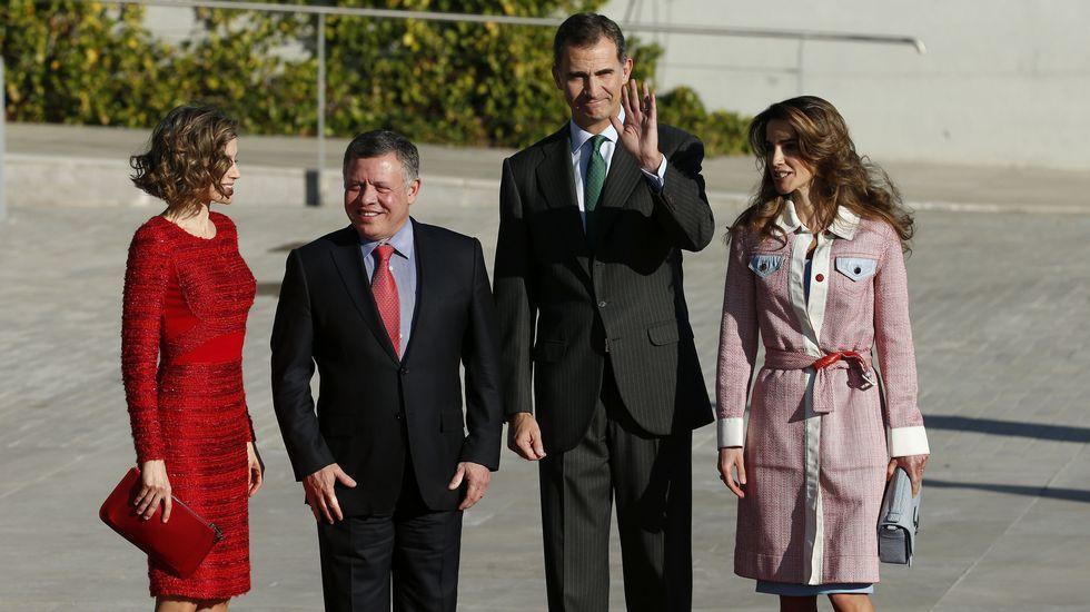 La llegada de los reyes de Jordania a España.