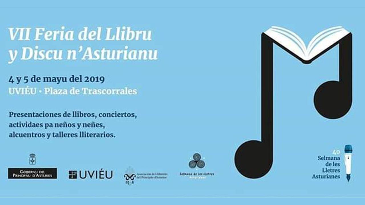 Presentación de la candidatura de Marea na Vila.Feria del llibru y discu n´asturianu