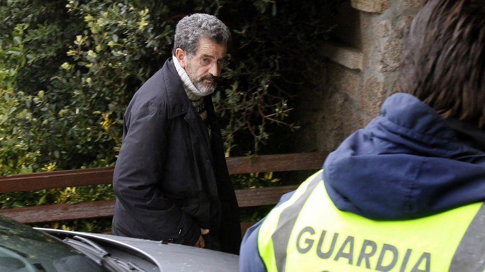 Miguel Rosendo llega al juzgado de Tui