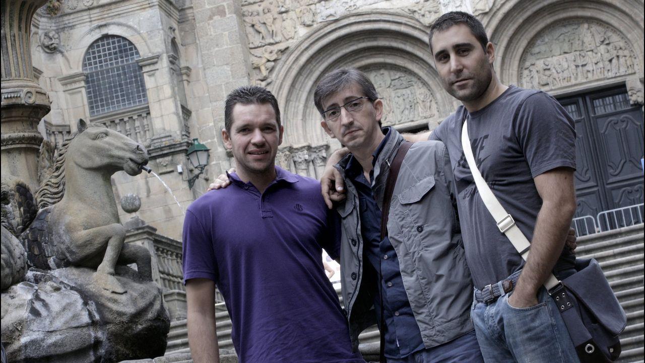 «¡Ay, Martín, qué emoción!».El presidente del Real Madrid y de ACS, Florentino Pérez, y el máximo responsable de OHL, Juan Miguel Villar Mir