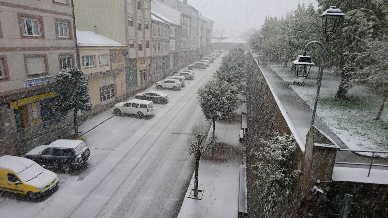 Nieve en A Fonsagrada el sábado 27