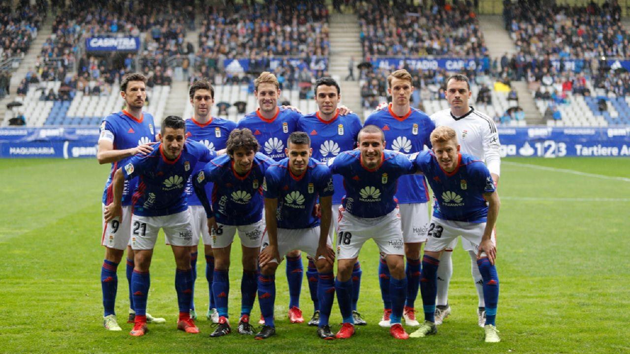 Real Oviedo Alcorcon Carlos Tartiere.Alineacion del Real Oviedo frente al Alcorcon