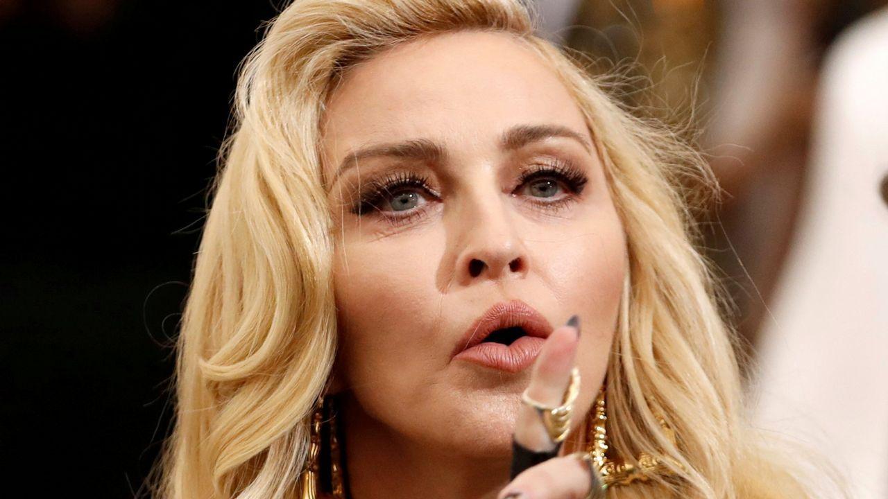 Madonna, durante su actuación en Tel Aviv