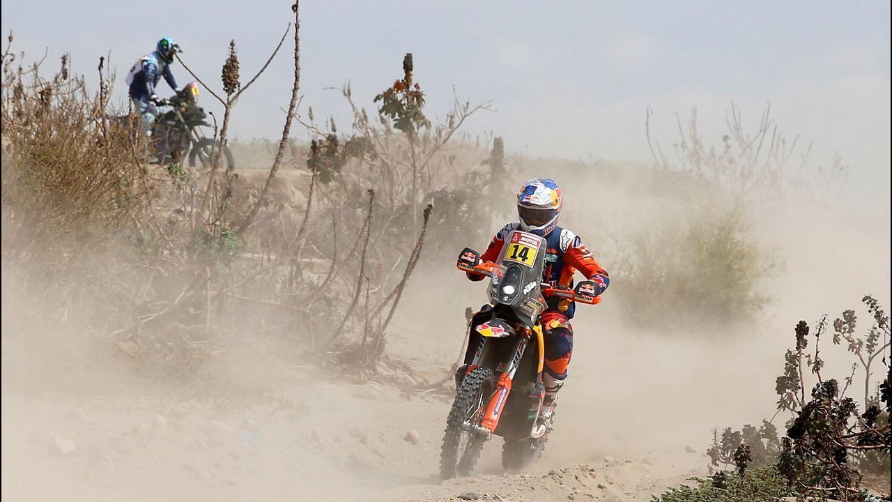Javier Álvarez en el Dakar