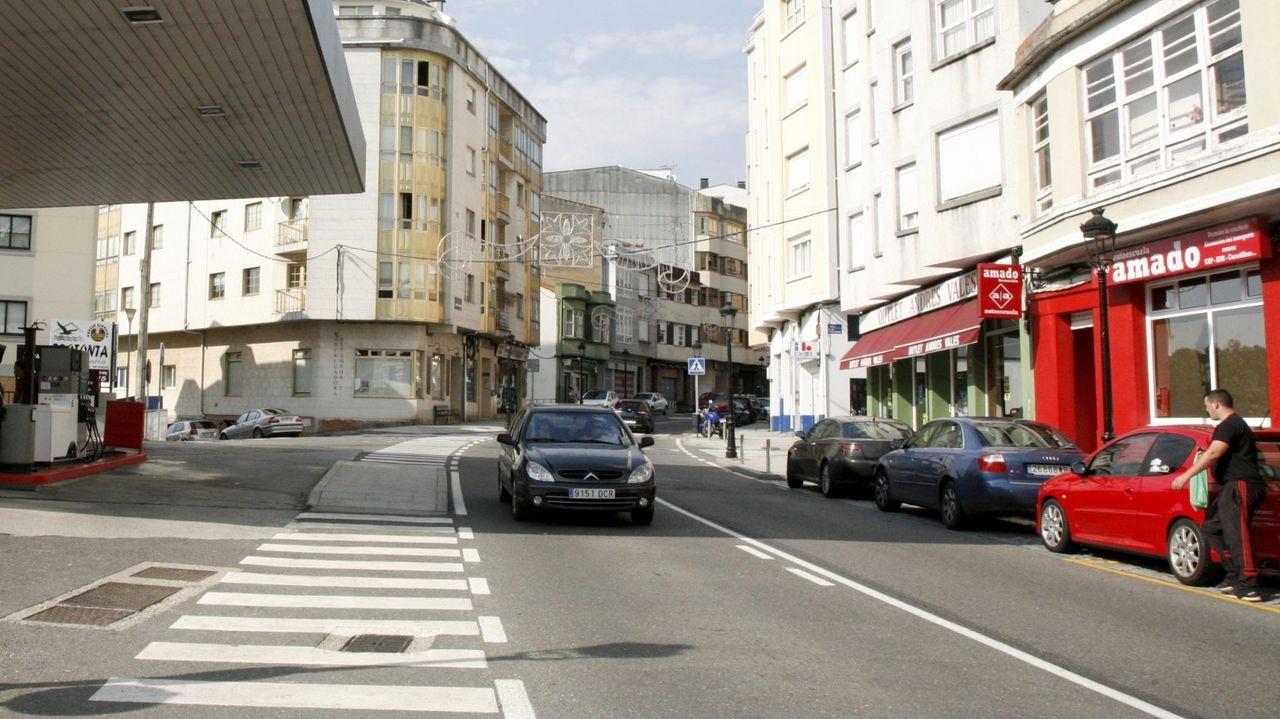 El adelantamiento temerario ocurrió en la avenida de A Coruña, en Betanzos