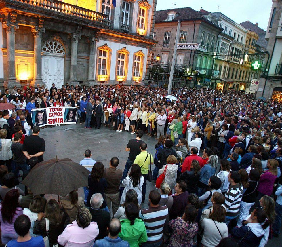 La ciudadanía arropó a la familia y allegados en las manifestaciones por el caso de Sonia Iglesias.