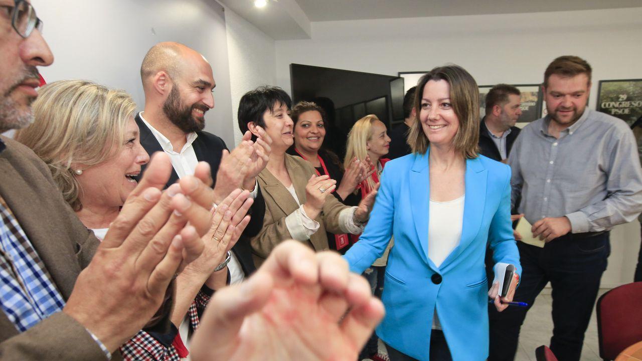 LA ALCALDESA, LARA MENDEZ, CELEBRA EN LA SEDE DEL PSOE LOS RESULTADOS EN LA ELECCIONES MUNICIPALES 2019