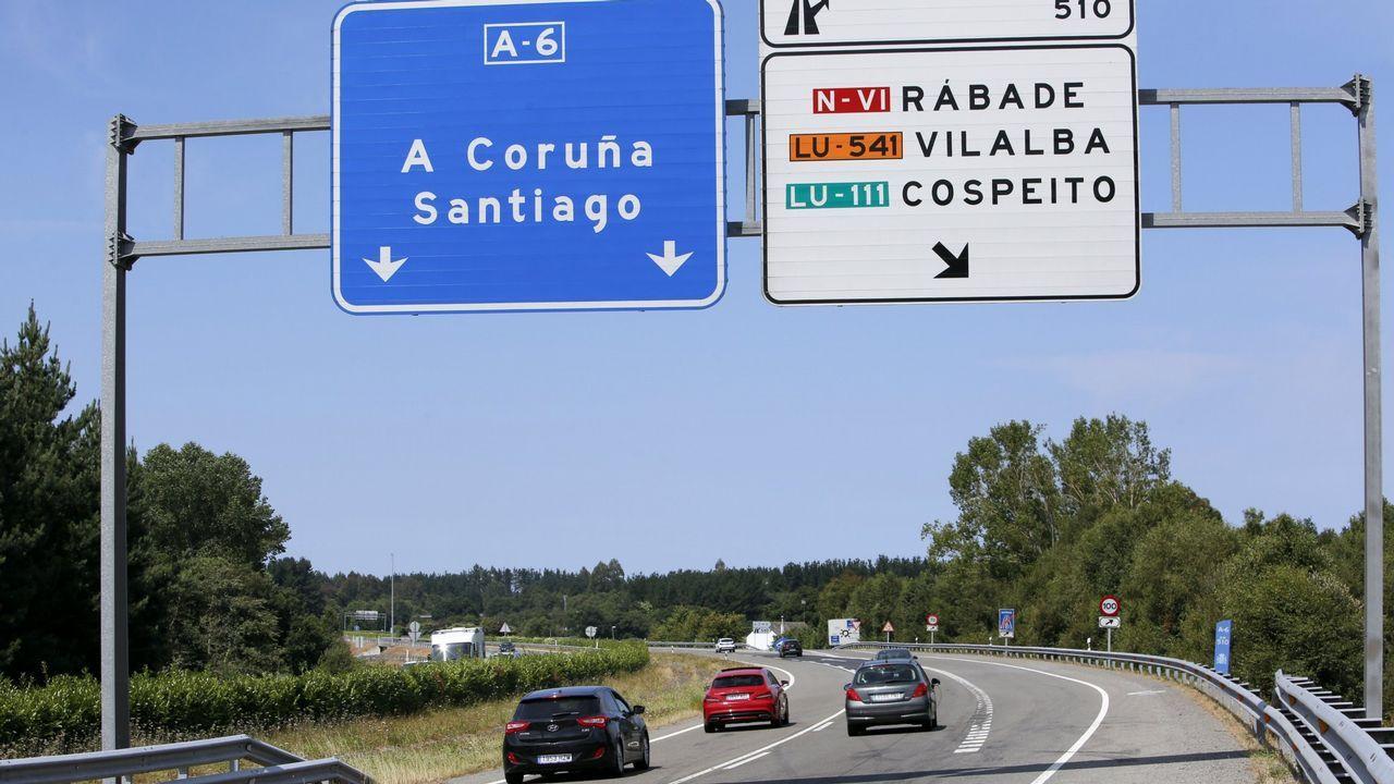 Javier Fernández y el ministro de Fomento, Íñigo de la Serna, visitan las obras de la autovía del suroccidente A-63 en el concejo de Salas.Peaje del Huerna