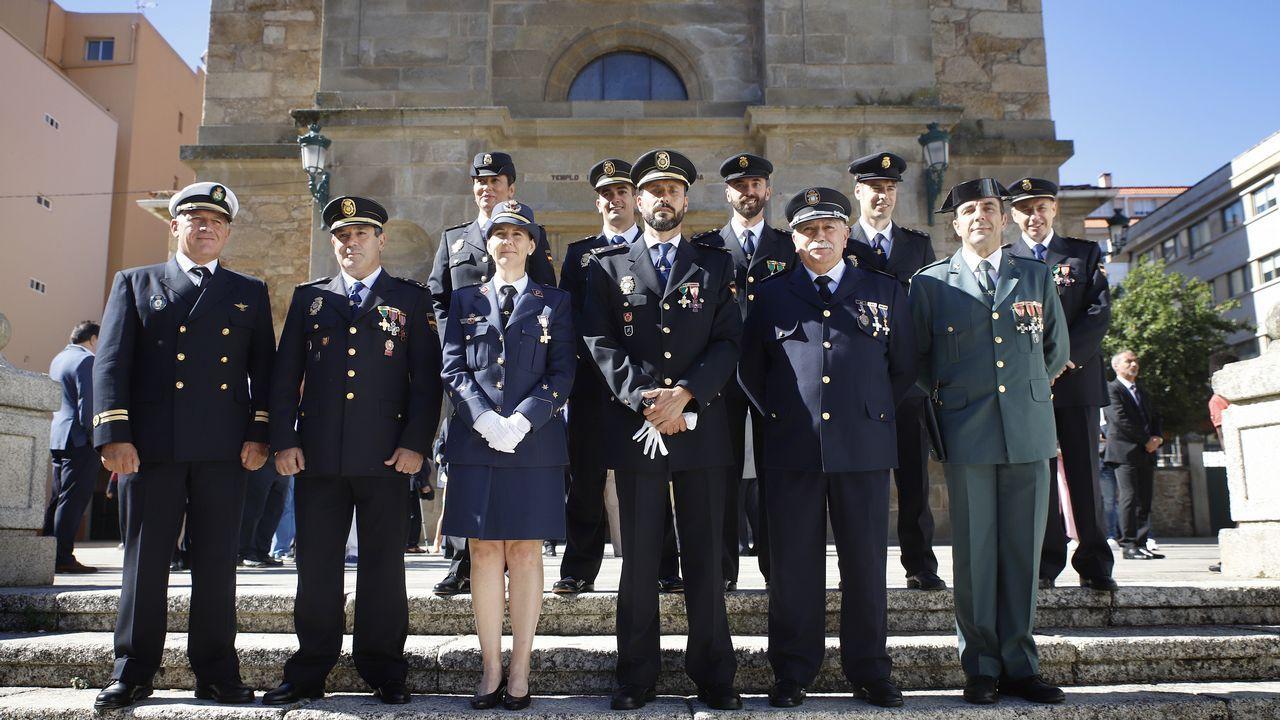 La Policía Nacional de Ribeira celebraLos Ángeles Custodios