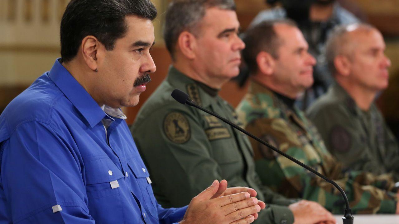 plaza.Nicolás Maduro, durante su comparecencia en la televisión pública tras permanecer quince horas desaparecido