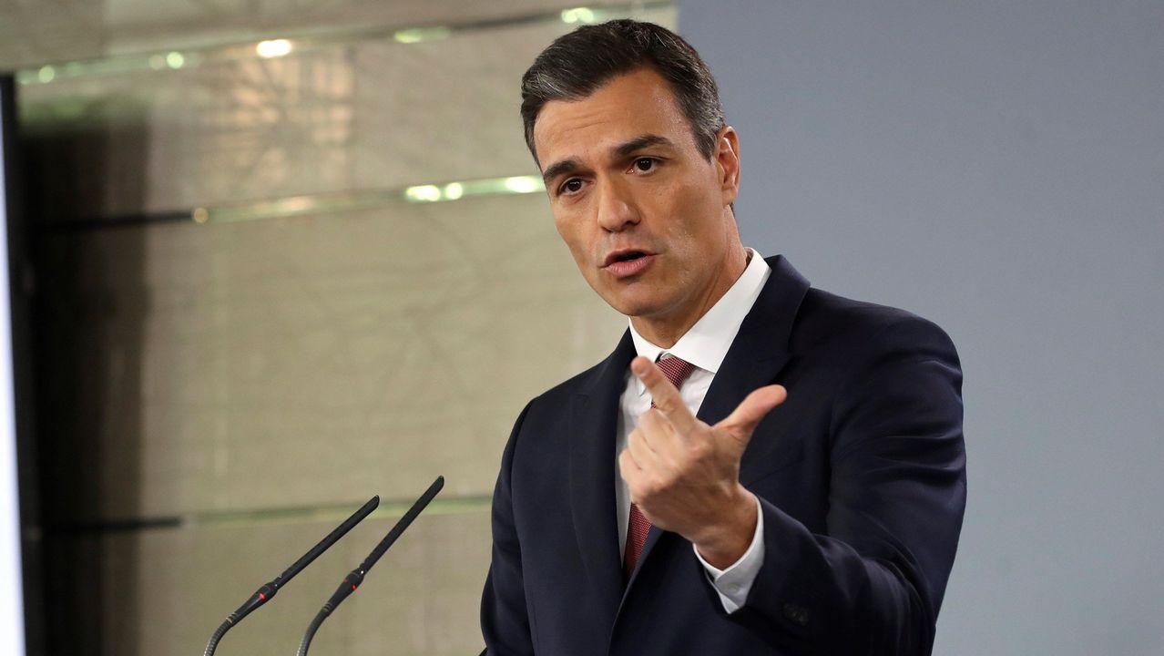 Sánchez comparece para anunciar medidas legales tras la sentencia de las hipotecas.REDMADREVALENCIA| Europa Press