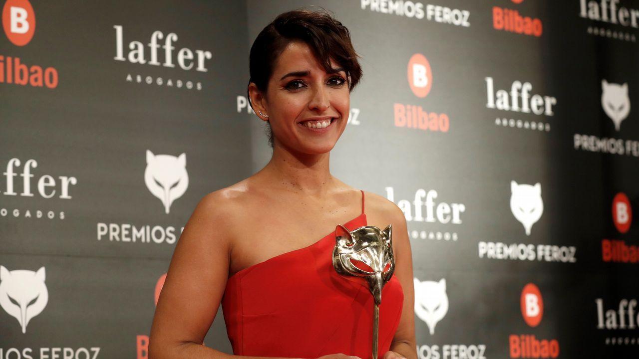 PREMIOS FEROZ.  La actriz Inma Cuesta recibe el premio a mejor actriz protagonista de una serie por su trabajo en  Arde Madrid