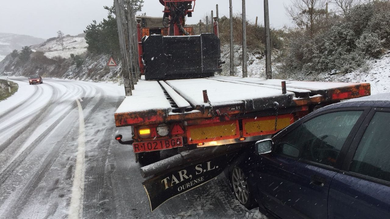 Accidente por la nieve en monte Caxado, As Pontes