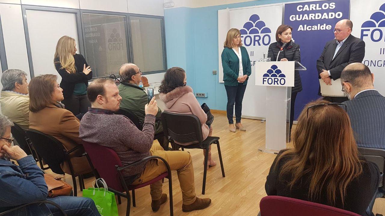 Carmen Moriyón interviene durante el segundo congreso local del partido en Avilés