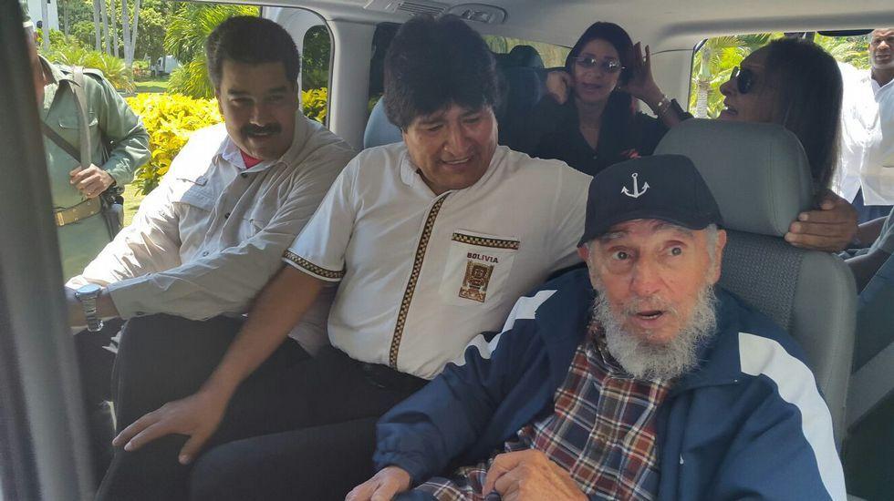 .Maduro y Morales acompañaron este jueves a Fidel Castro en La Habana.