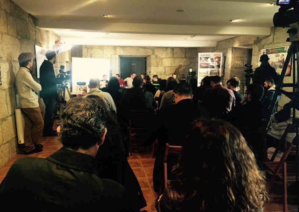 Cuatro rutas estrella en la Ribeira Sacra.Las sesiones de ayer se celebraron en San Pedro de Rocas.
