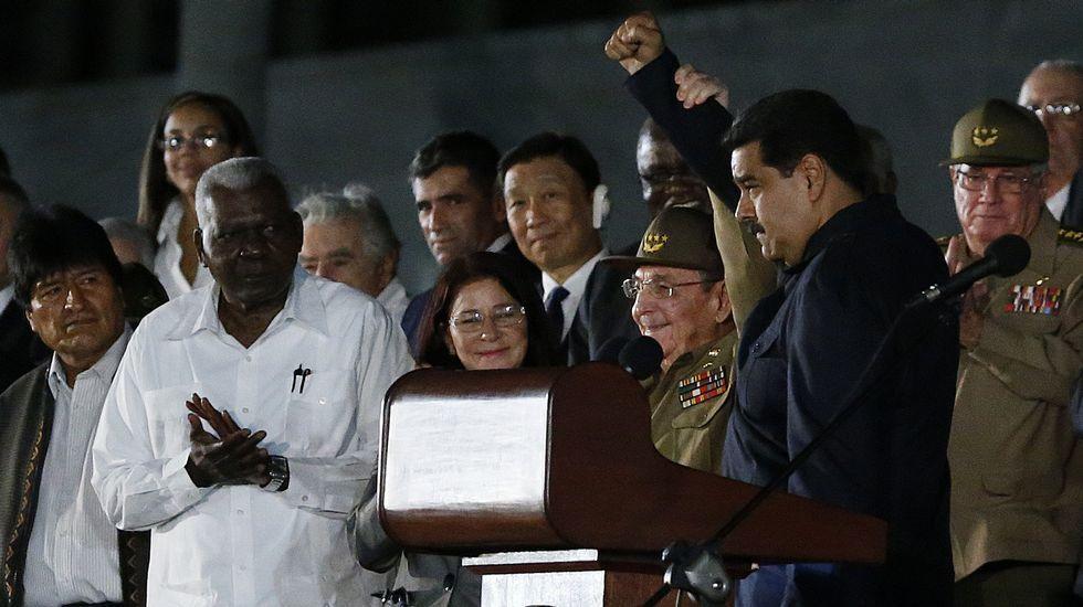 El presidente de Venezuela, Nicolás Maduro, en el funeral de Fidel Castro