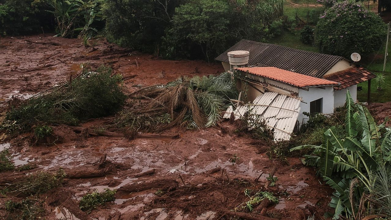 Vista con dron de los efectos del desastre