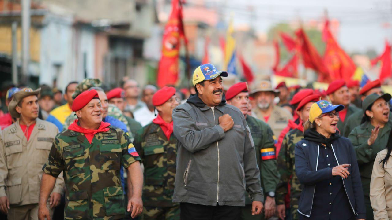 | EFE.Nicolás Maduro, durante un acto militar celebrado el pasado 4 de febrero