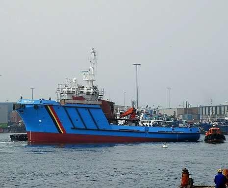 El «Chiloango» es uno de los tres barcos encargados por Angola.