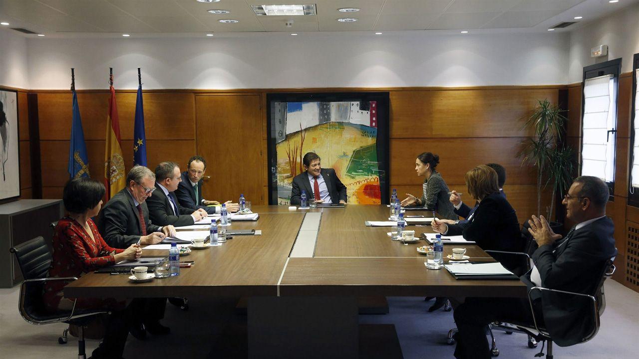 Palacio de Justicia del Principado de Asturias.Reunión en la que se aprobó la ampliación de la OPE