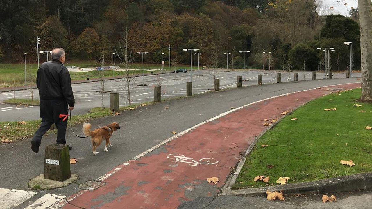 Zona de Bastiagueiro en la que se va a instalar una pista de patinaje de velocidad.