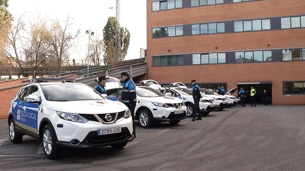 Atasco en el acceso a Oviedo.Policía Local de Oviedo