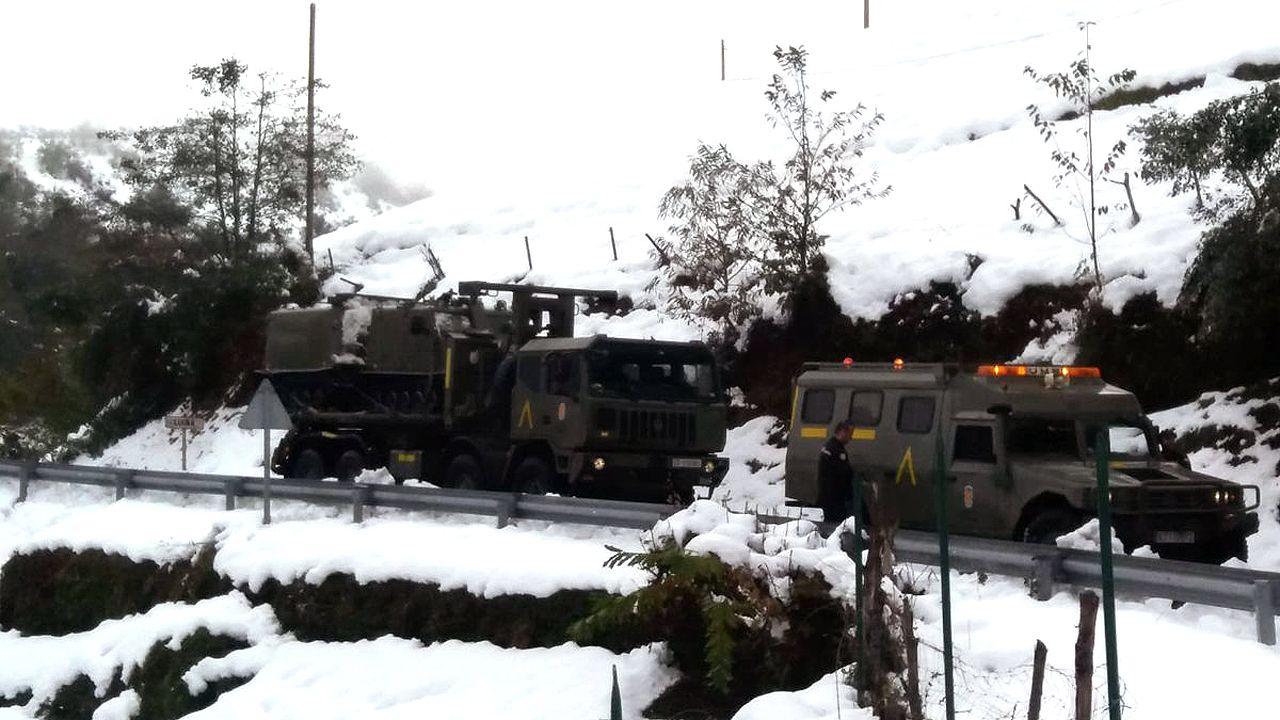 Los Transporte Oruga de Montaña de la UME ya están en Asturias