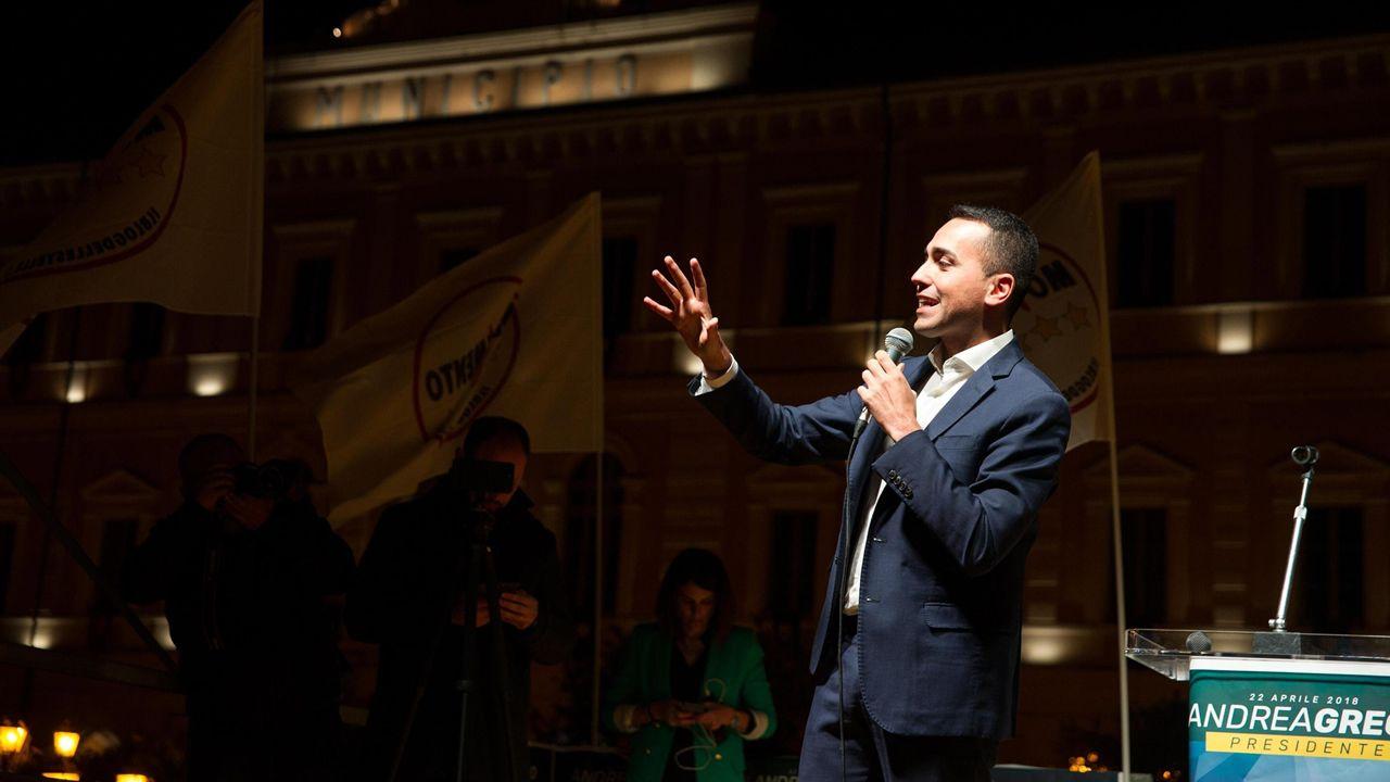.El populista Luigi Di Maio, del Movimiento 5 Estrellas