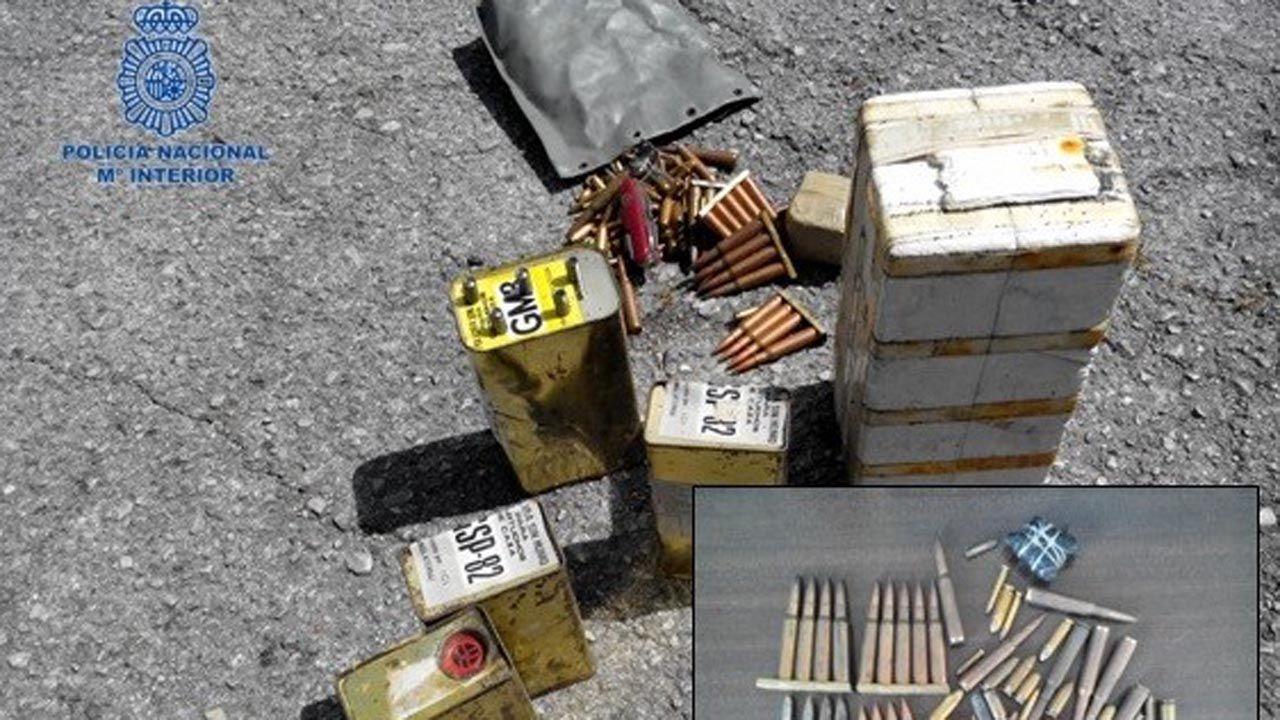 Explosivos y balas de ETA-ASTURCÓN
