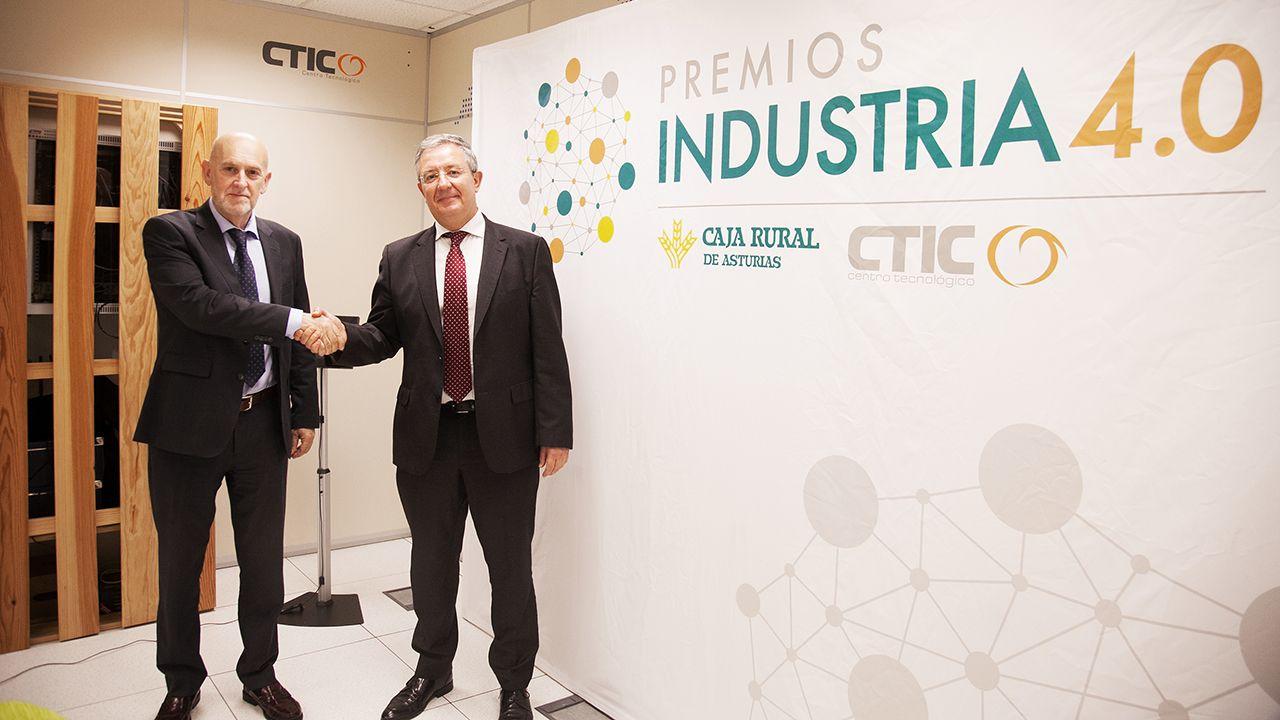 .Pablo Priesca, director general de CTIC y Antonio Romero, subdirector general de Caja Rural de Asturias