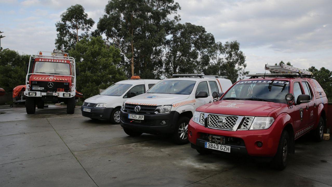 Una mujer herida en un accidente de tráfico en O Corgo .La Ronda Norte sigue aumento su volumen de circulación de vehículos