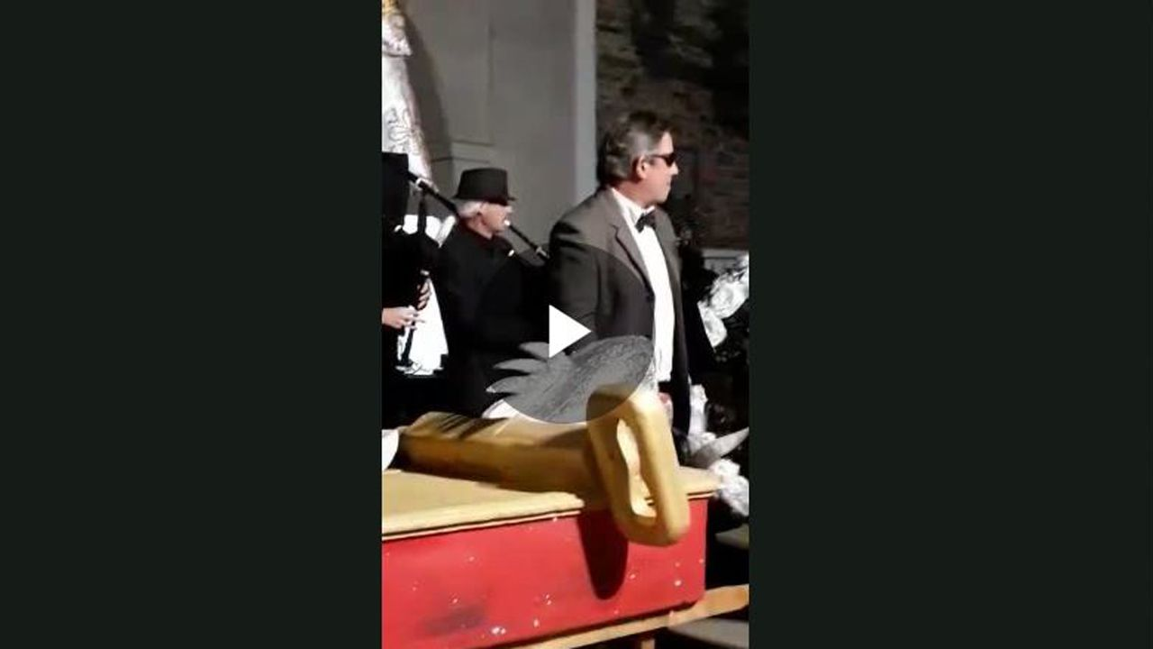 Uno de los vídeos que denuncia el párroco de Tapia