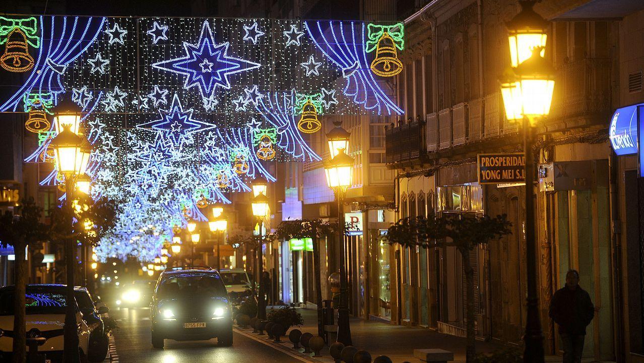 Iluminación navideña en Fisterra