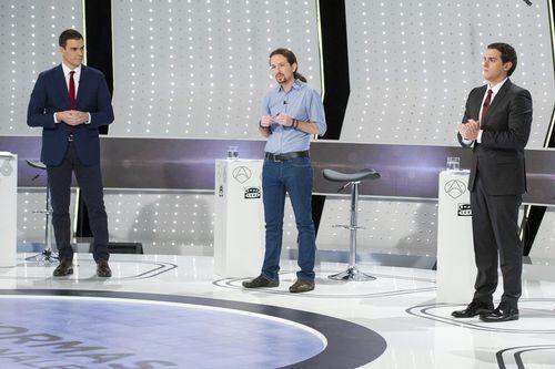 Sánchez, Iglesias y Rivera, los únicos que repetirán en el debate de candidatos