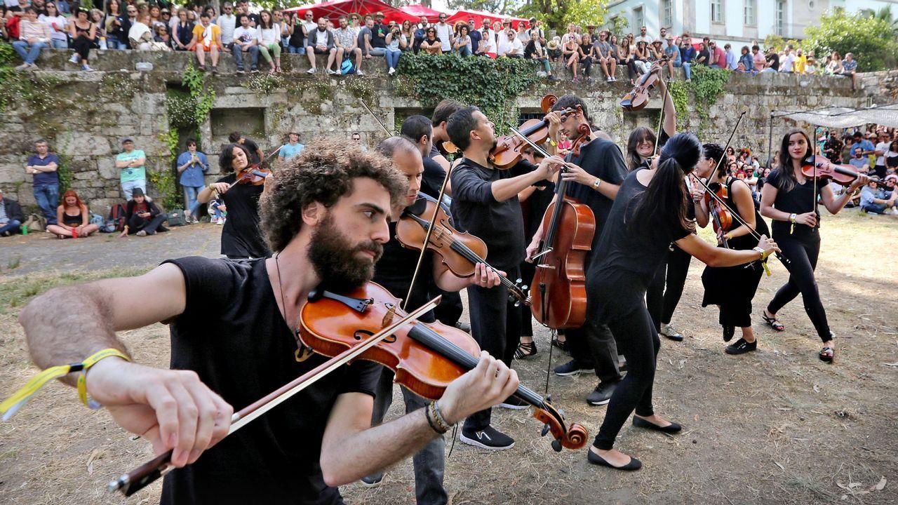 Otero, un barrio con esencia ochentera.El cantante Pablo López, en un reciente concierto que ofreció en Vigo
