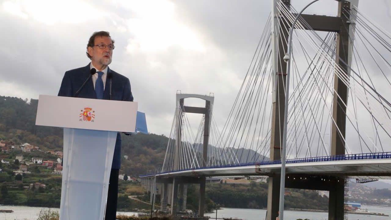 Inauguración ampliacion Puente Rande.Obras en la variante de Pajares